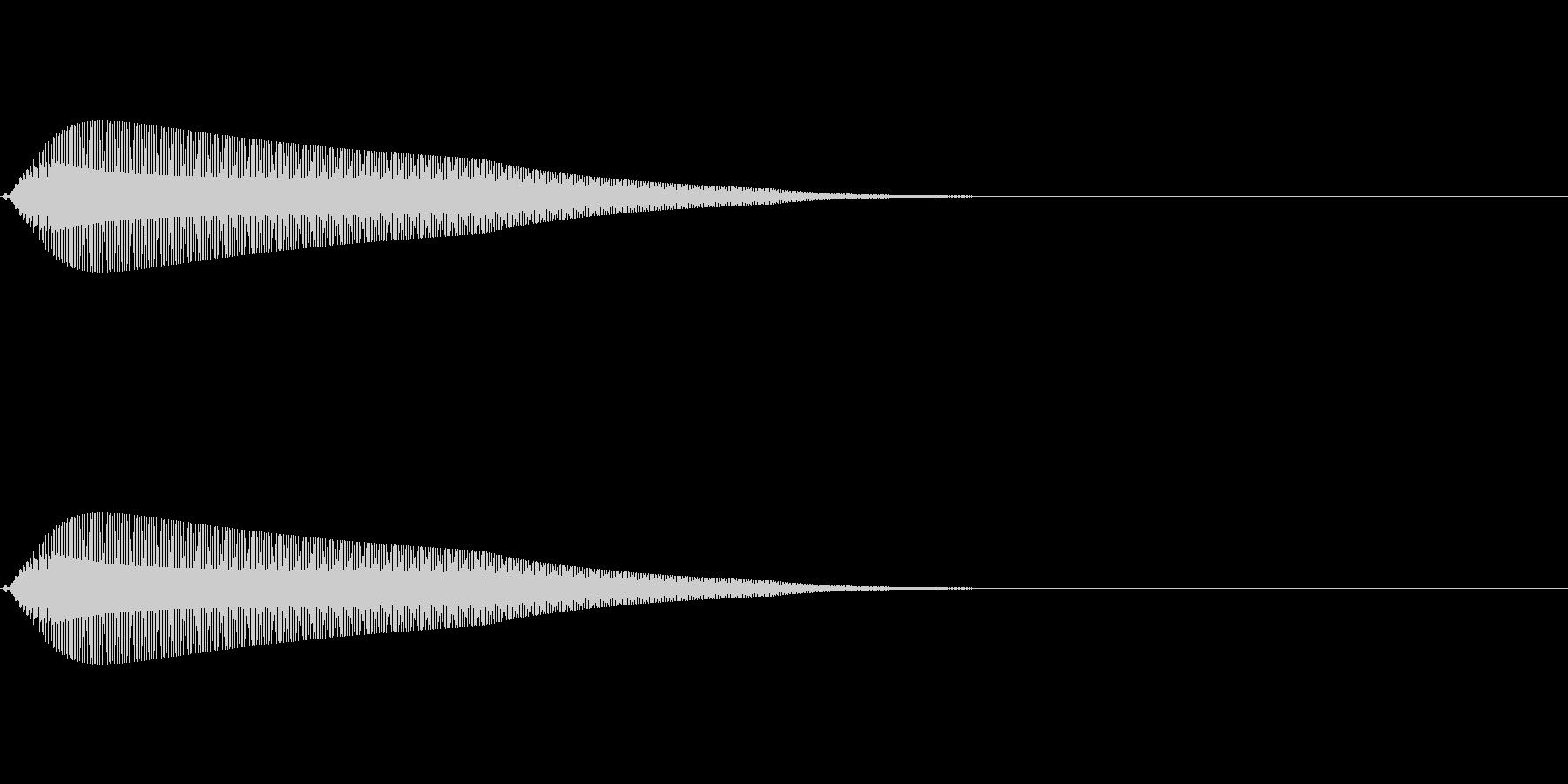【操作音】決定音 クリック音 タッチ音の未再生の波形