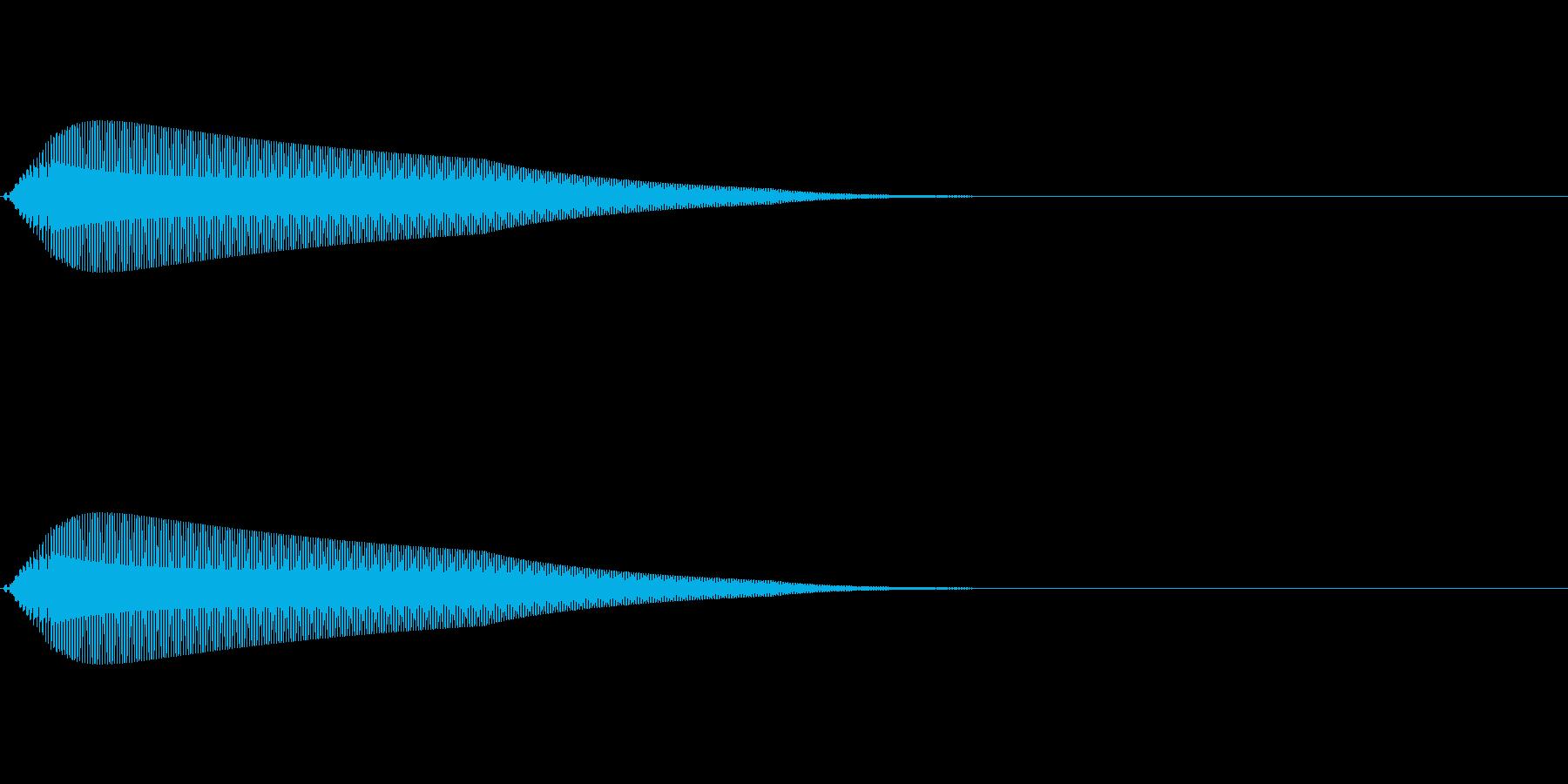 【操作音】決定音 クリック音 タッチ音の再生済みの波形