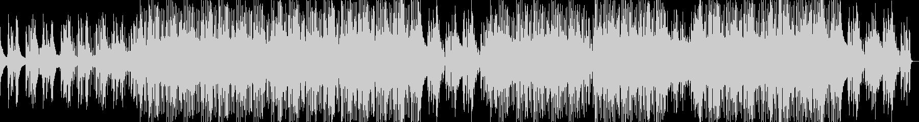 疾走感のビートとベース、マイナージャズ調の未再生の波形