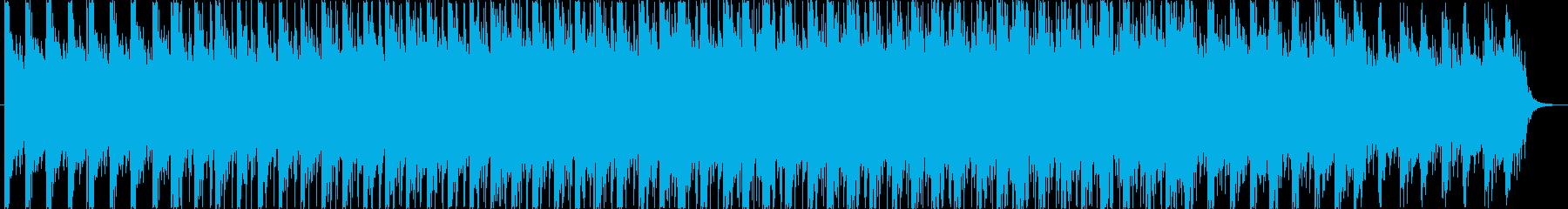 無機質なイメージのエレクトロニカBGMの再生済みの波形
