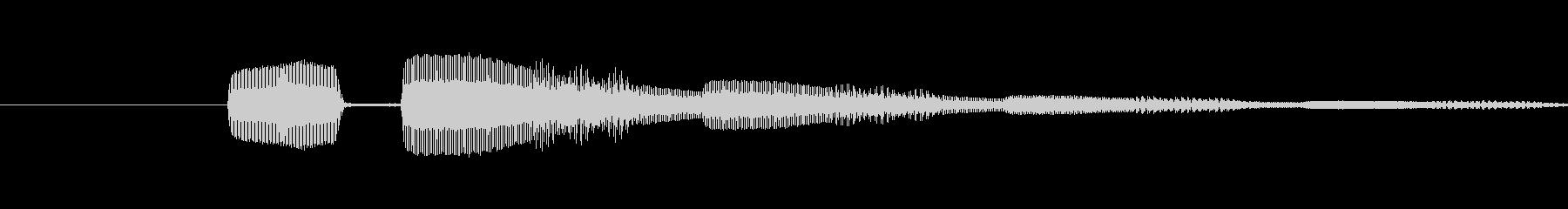ピコンという電子音の未再生の波形