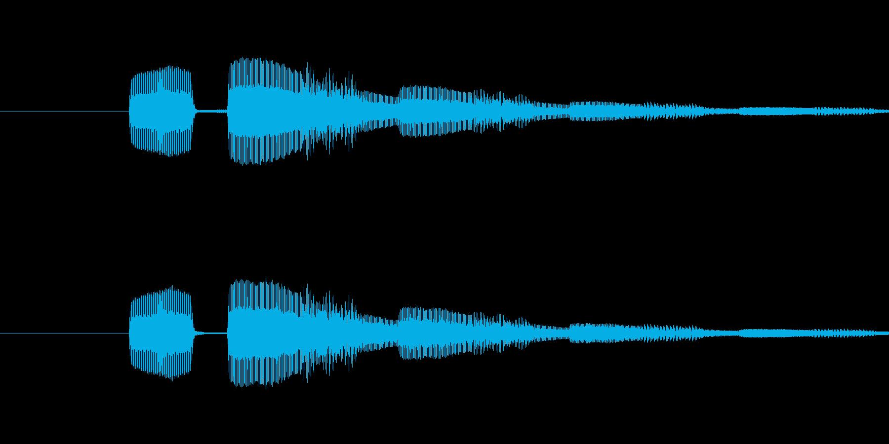 ピコンという電子音の再生済みの波形