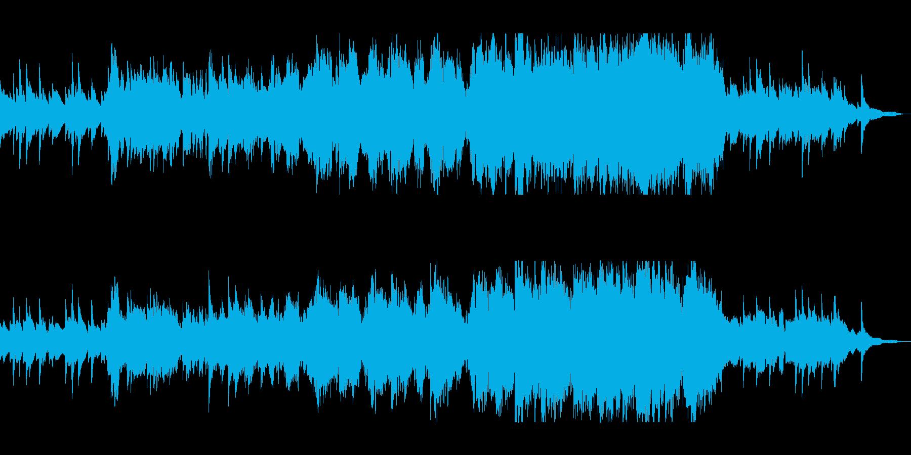 優しく美しいピアノバイオリンサウンドの再生済みの波形