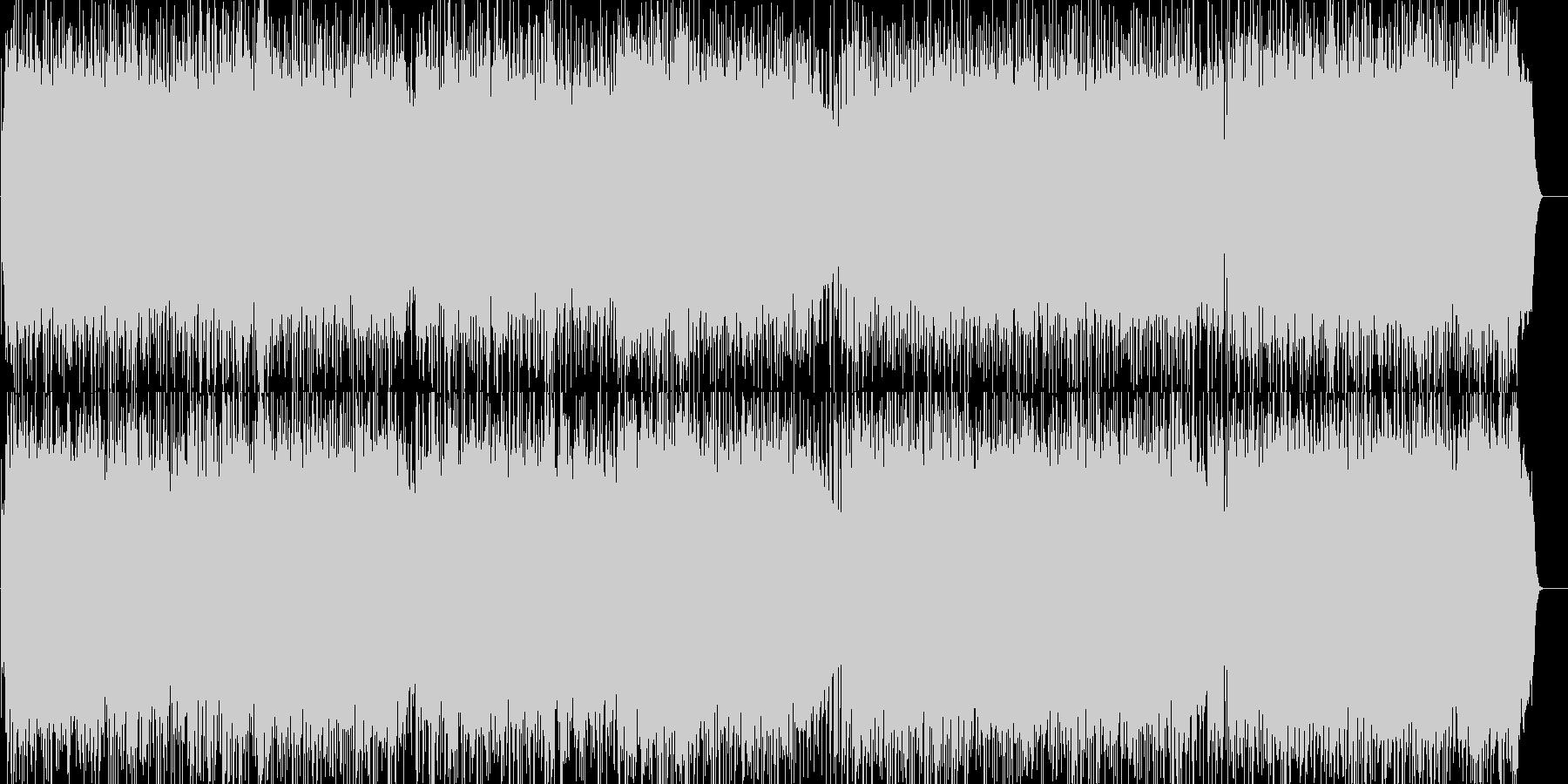 爽やかで前向きなロックポップの未再生の波形