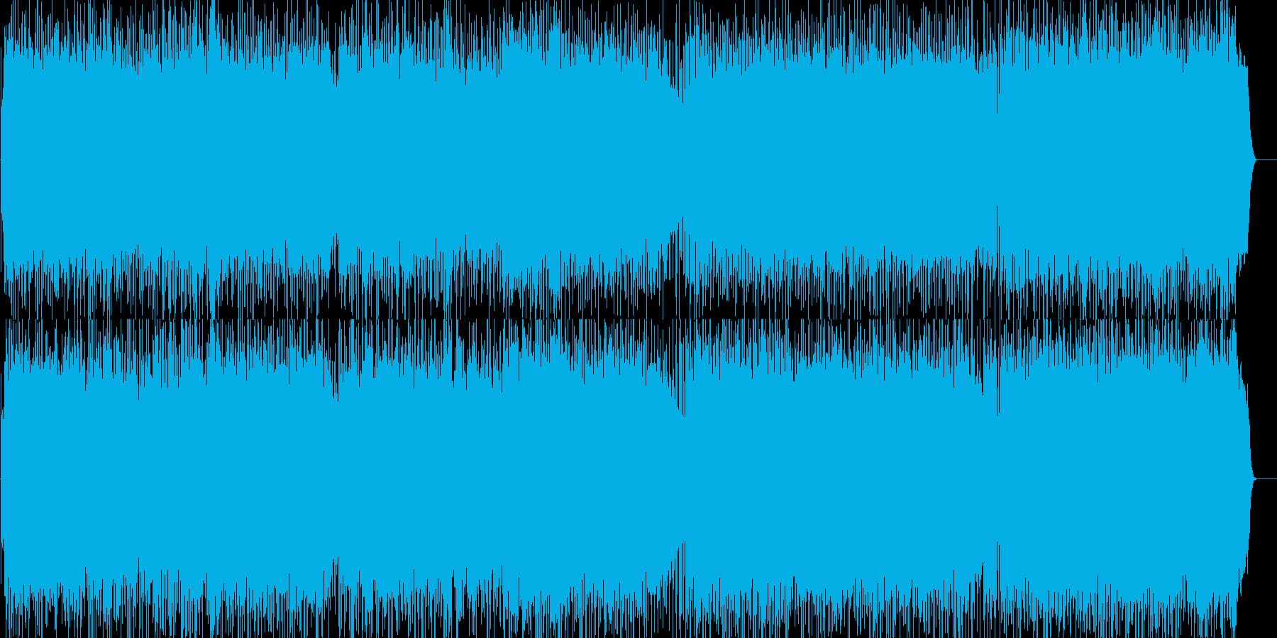 爽やかで前向きなロックポップの再生済みの波形