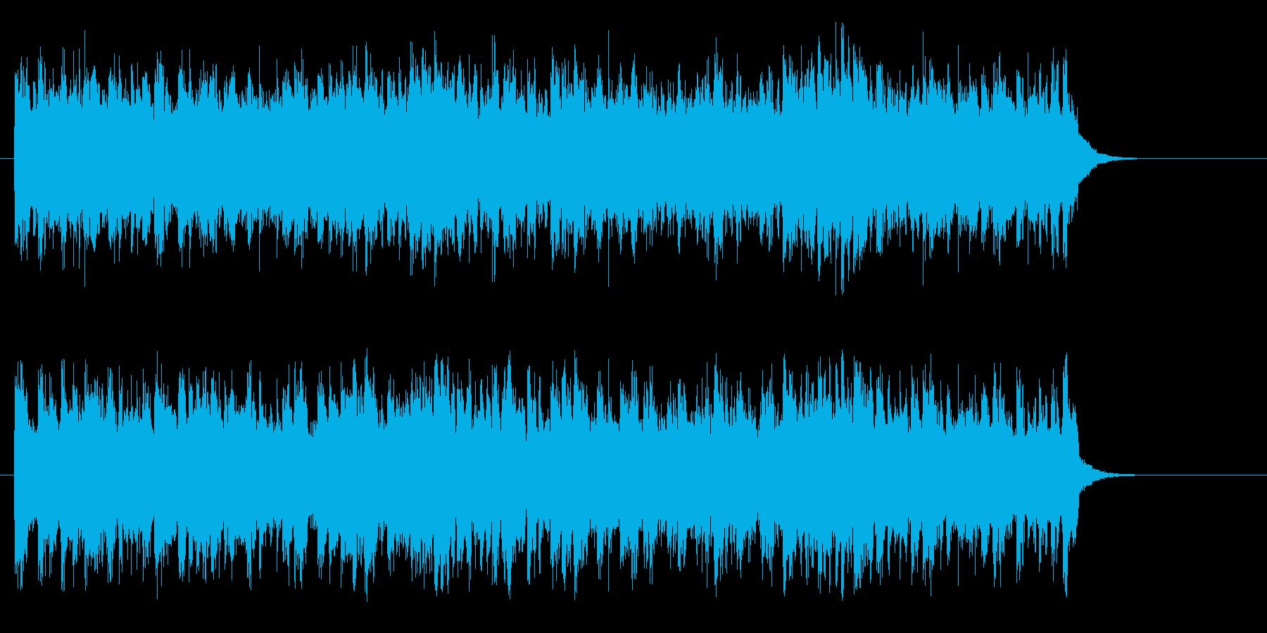 アコースティック風BGM(サビ)の再生済みの波形