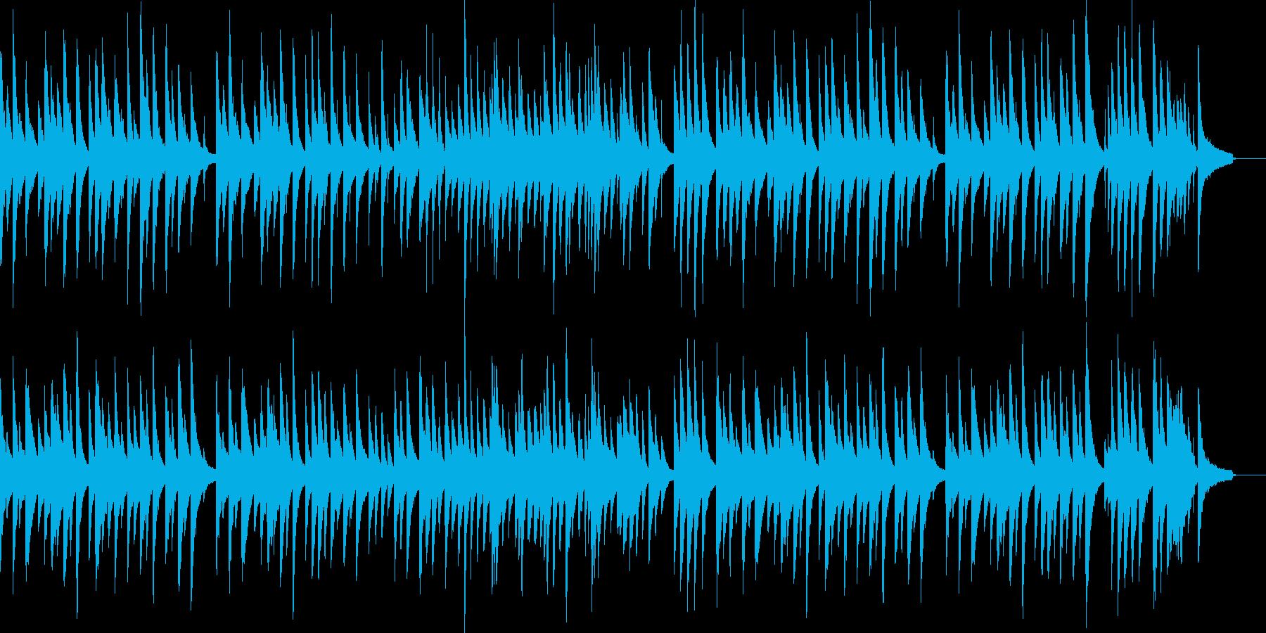 優しい雰囲気のピアノ曲の再生済みの波形