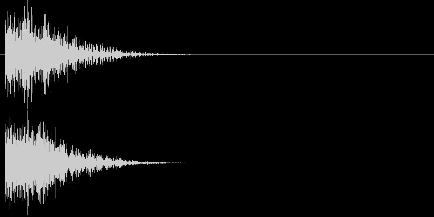 汎用 ヒット系01(小) 出題 フリップの未再生の波形