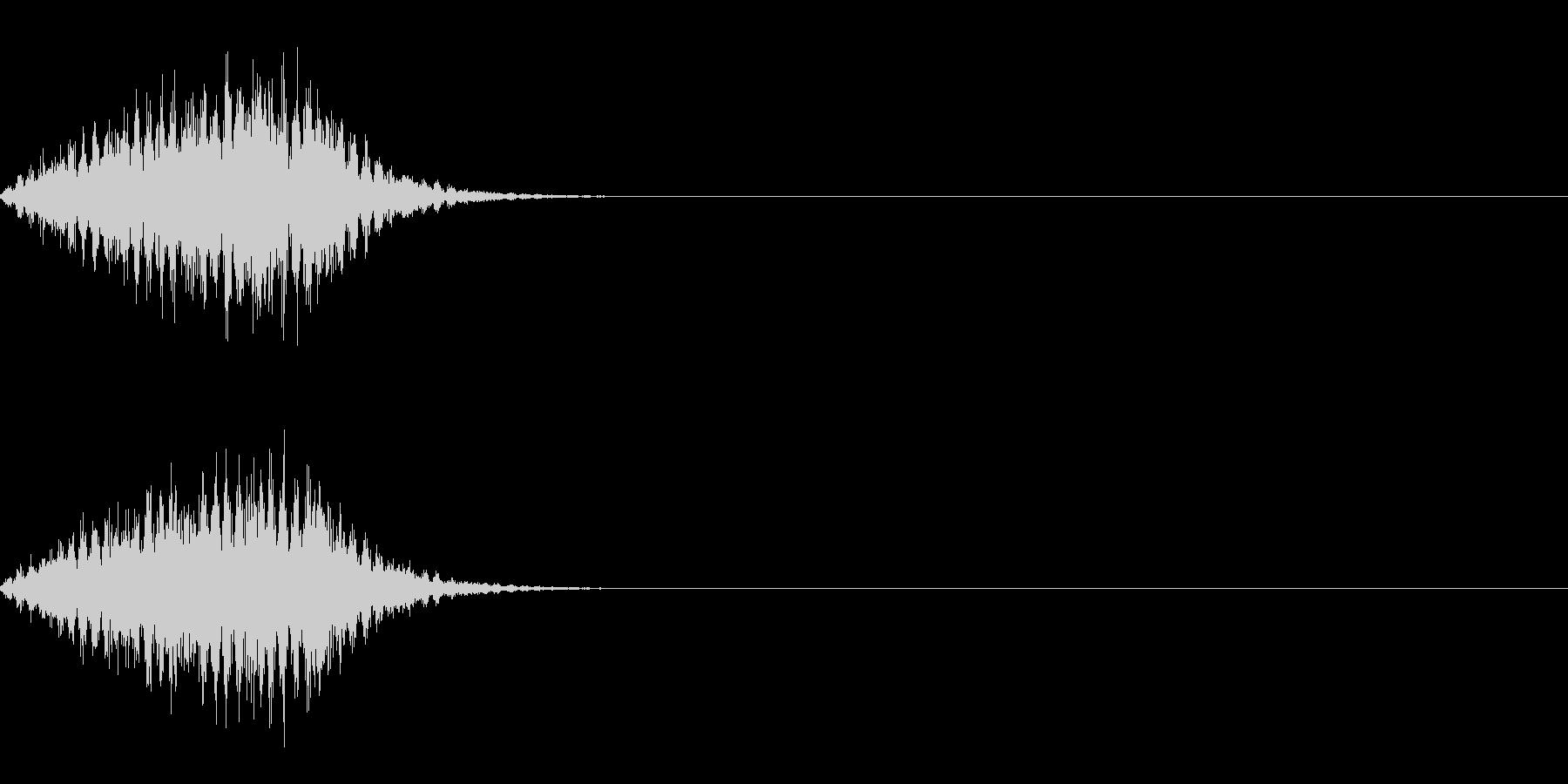 ビュルの未再生の波形