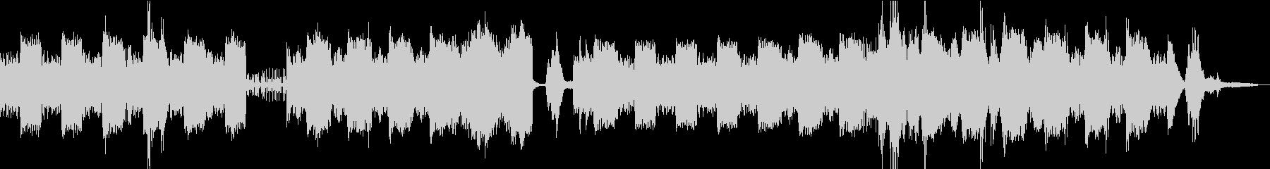 ゆったりと変化するアンビエントBGMの未再生の波形