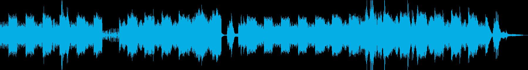 ゆったりと変化するアンビエントBGMの再生済みの波形