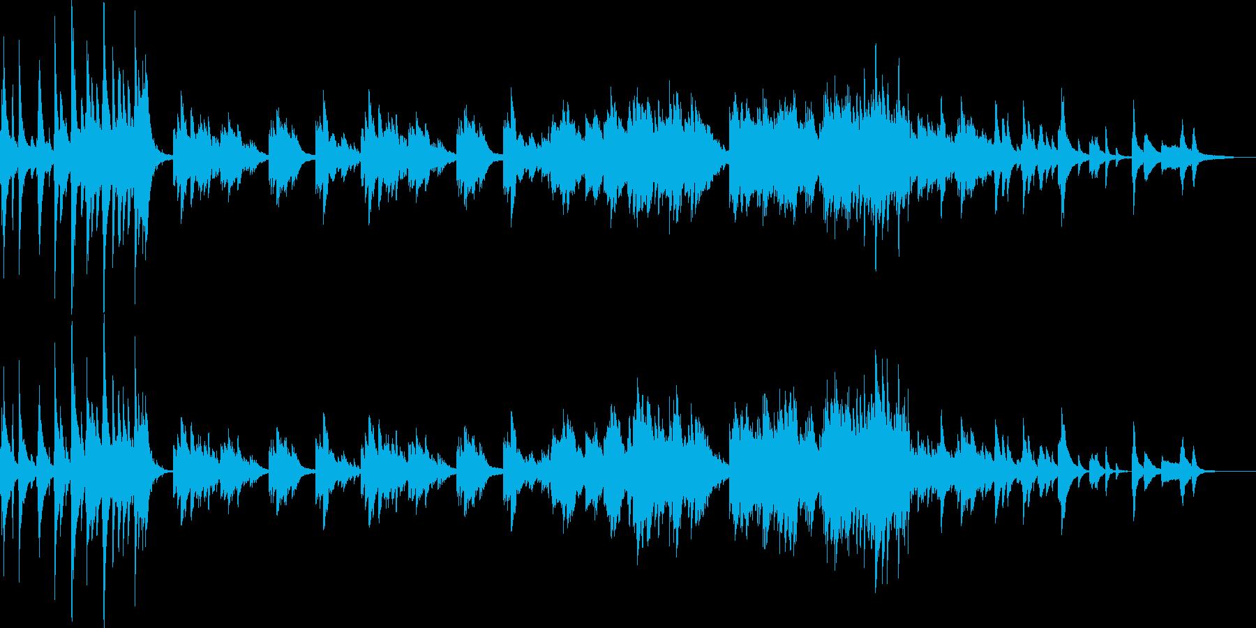 祈りのイメージの静かなピアノソロの再生済みの波形