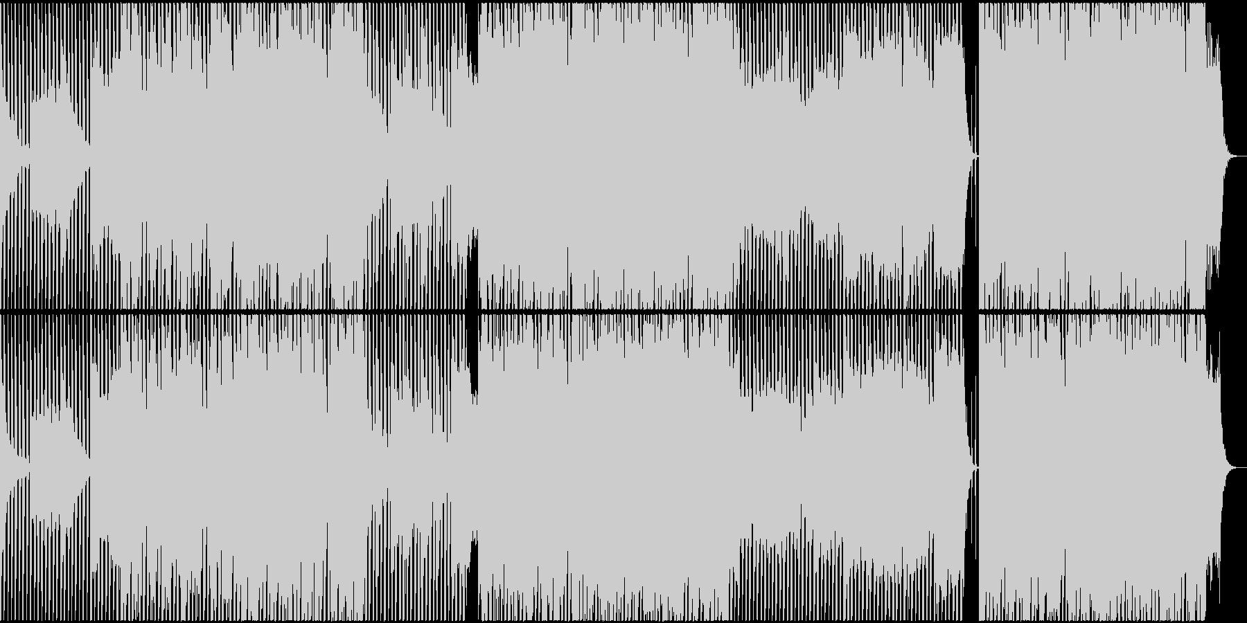 ピアノを主体にした広がりのあるBGMの未再生の波形