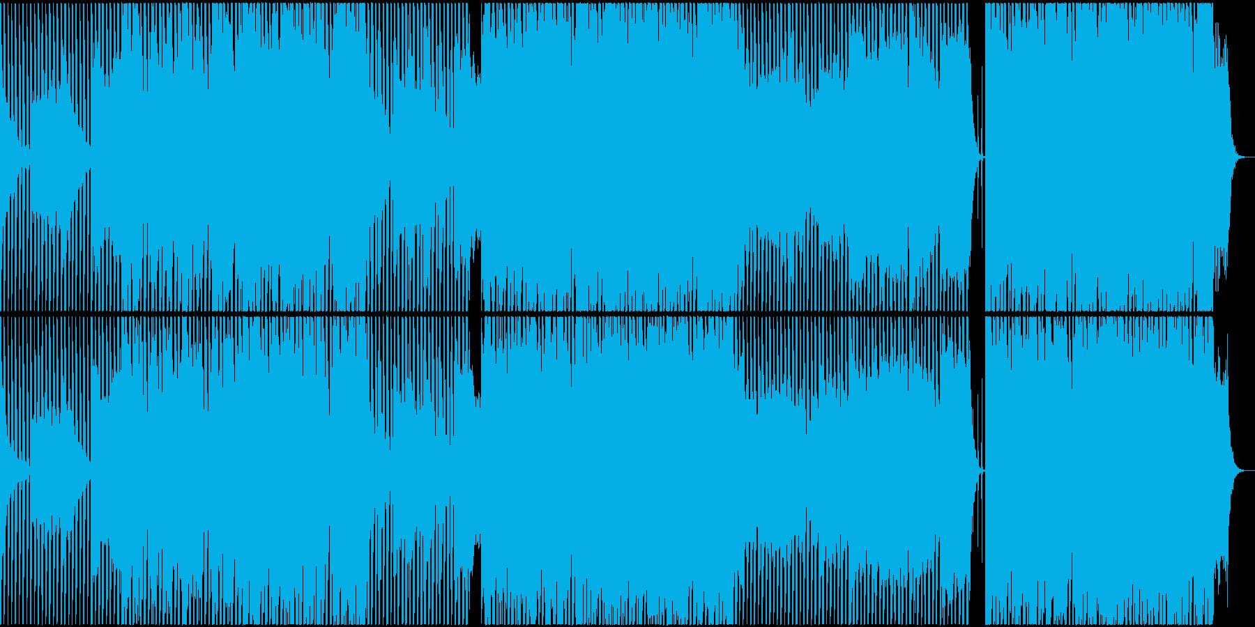 ピアノを主体にした広がりのあるBGMの再生済みの波形