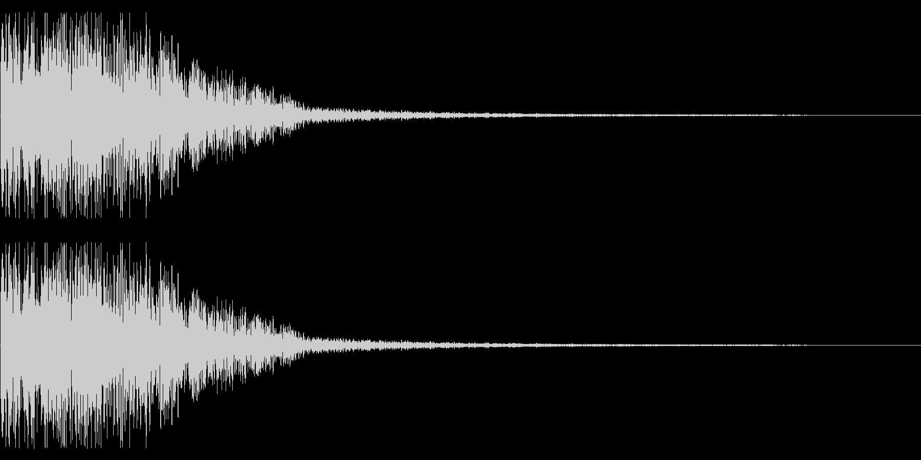 アニメにありそうなインパクト音(金属音)の未再生の波形