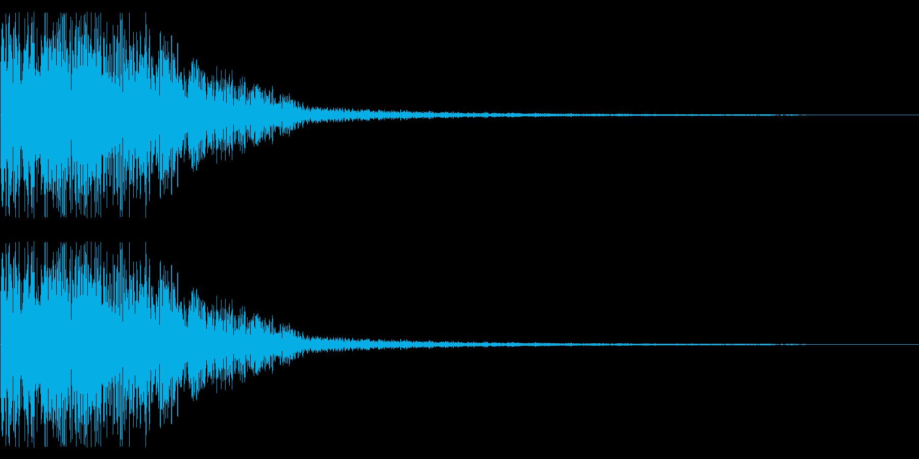 アニメにありそうなインパクト音(金属音)の再生済みの波形