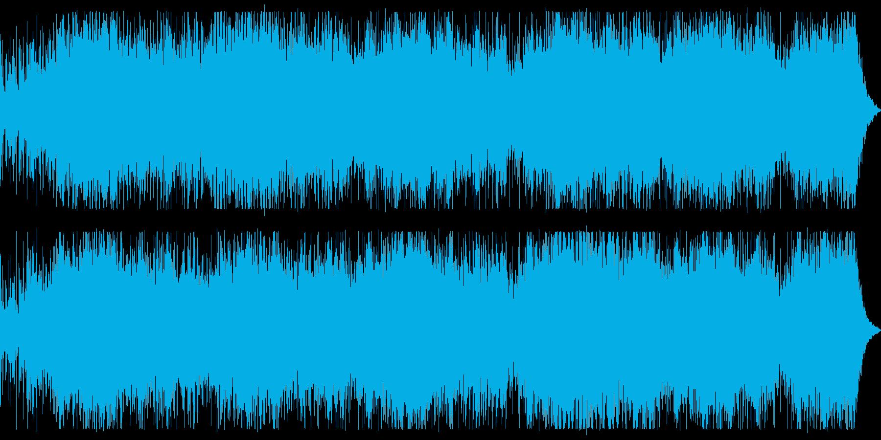 ダークなシーン向けベースとパーカッションの再生済みの波形