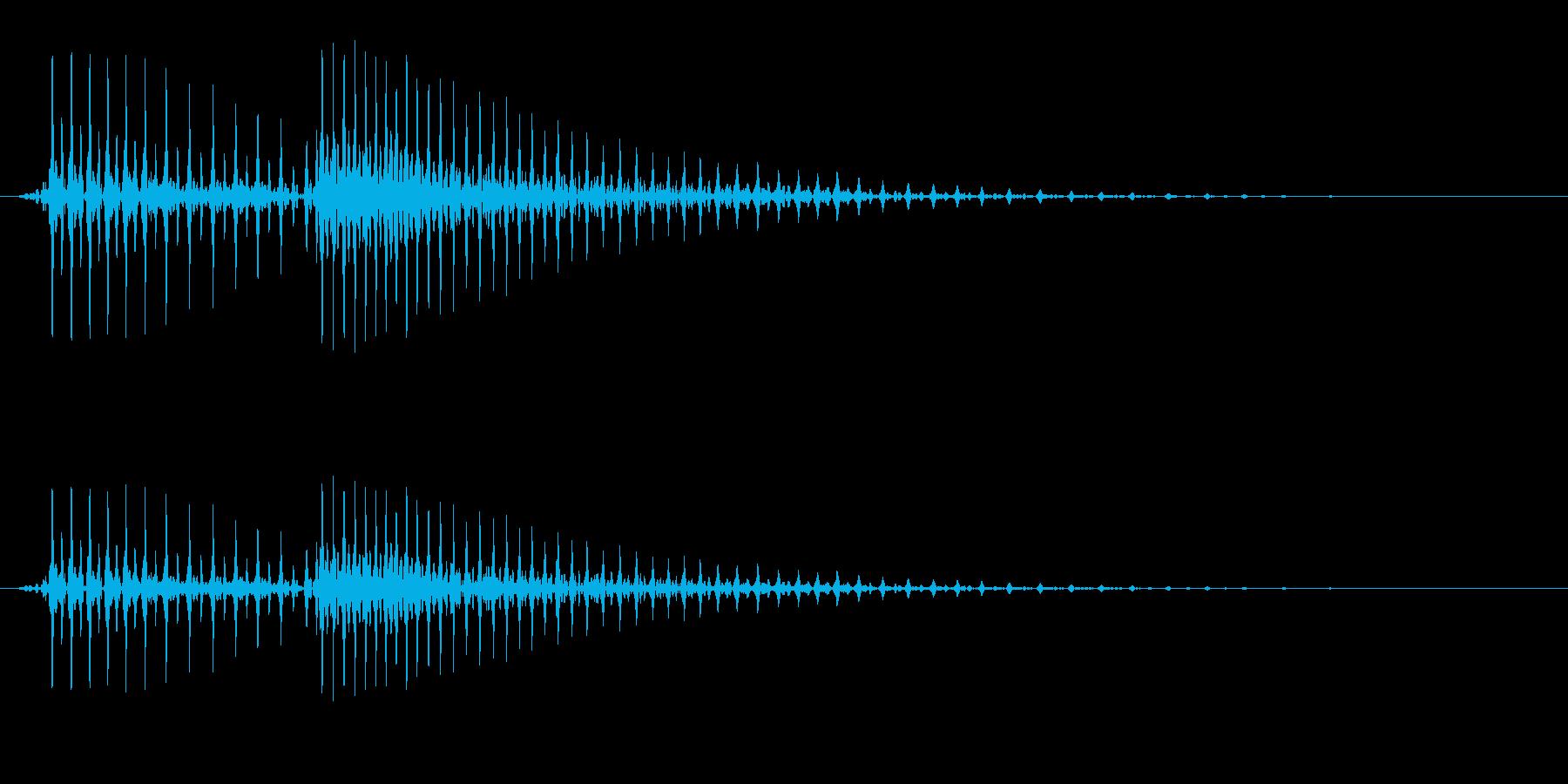 ぷんぷん怒るイメージの効果音_01の再生済みの波形