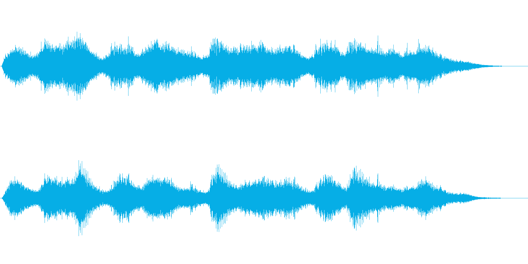 エスノな洞窟の中に吹くアンビエントな風音の再生済みの波形