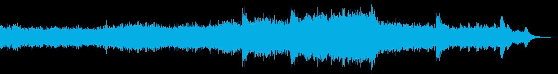 誕生までをイメージしたサウンドスケープの再生済みの波形