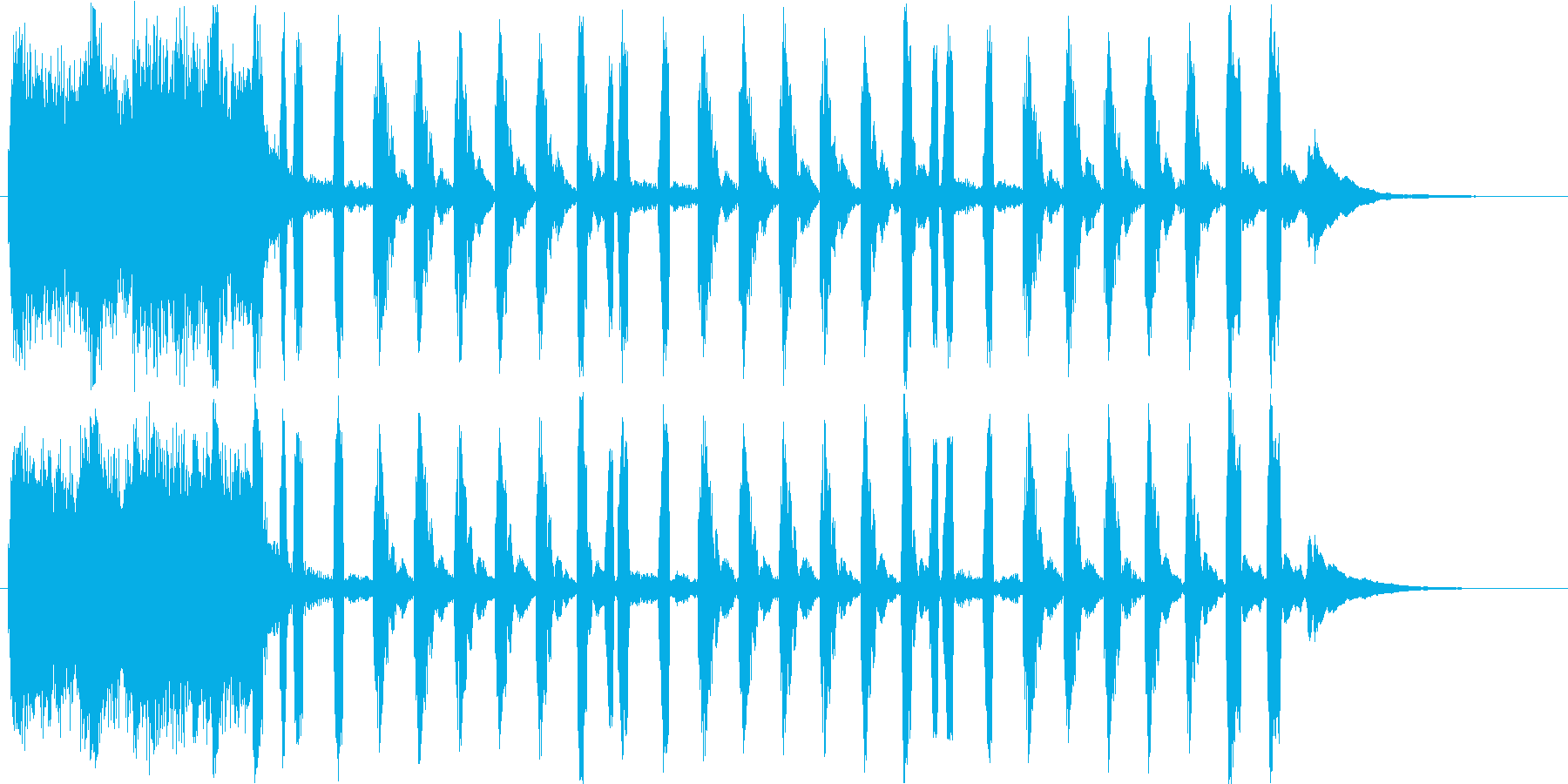 物事の雰囲気を表現するショートソングの再生済みの波形