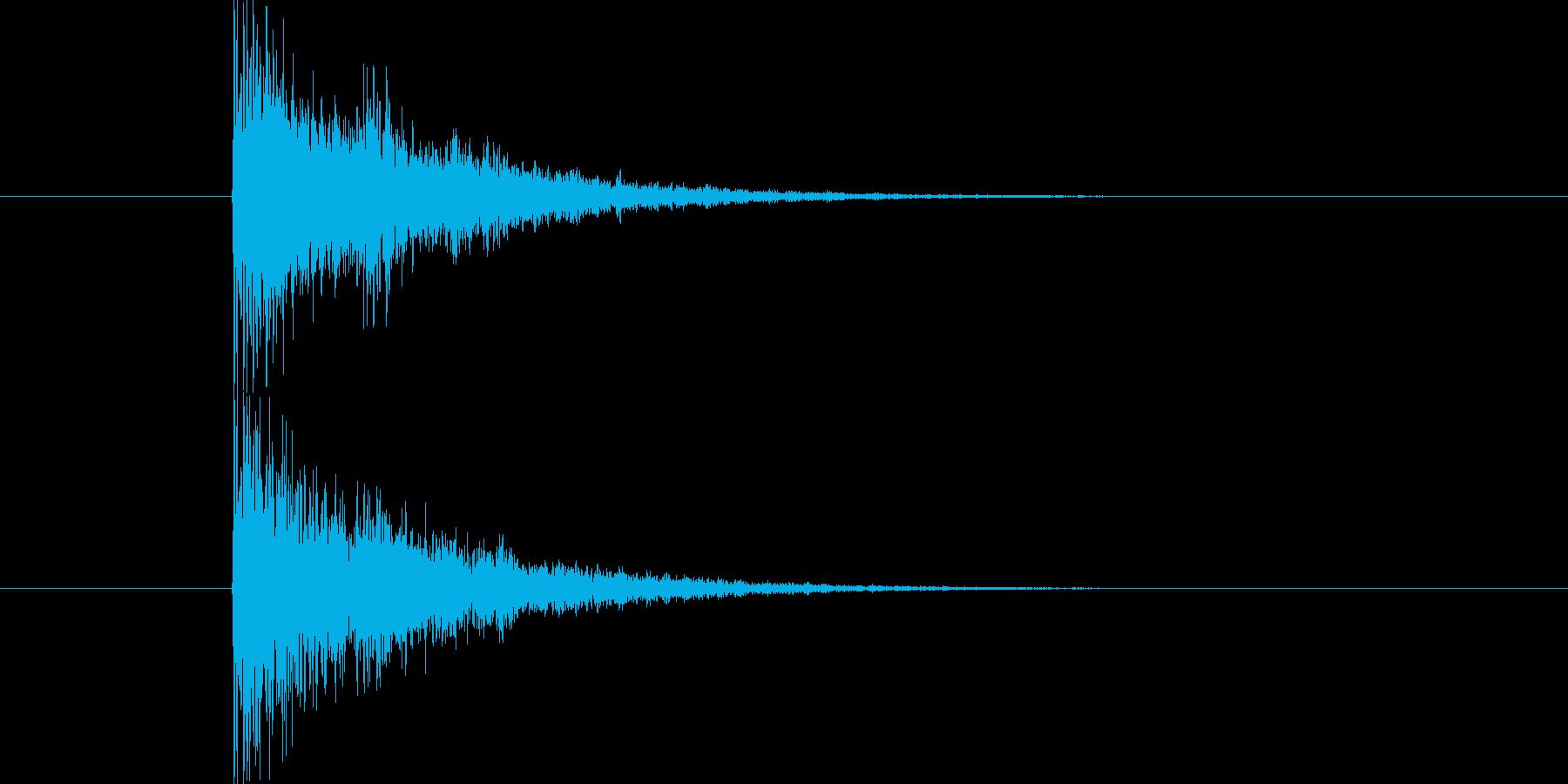 何かに気づいた際のインパクトSEです。…の再生済みの波形