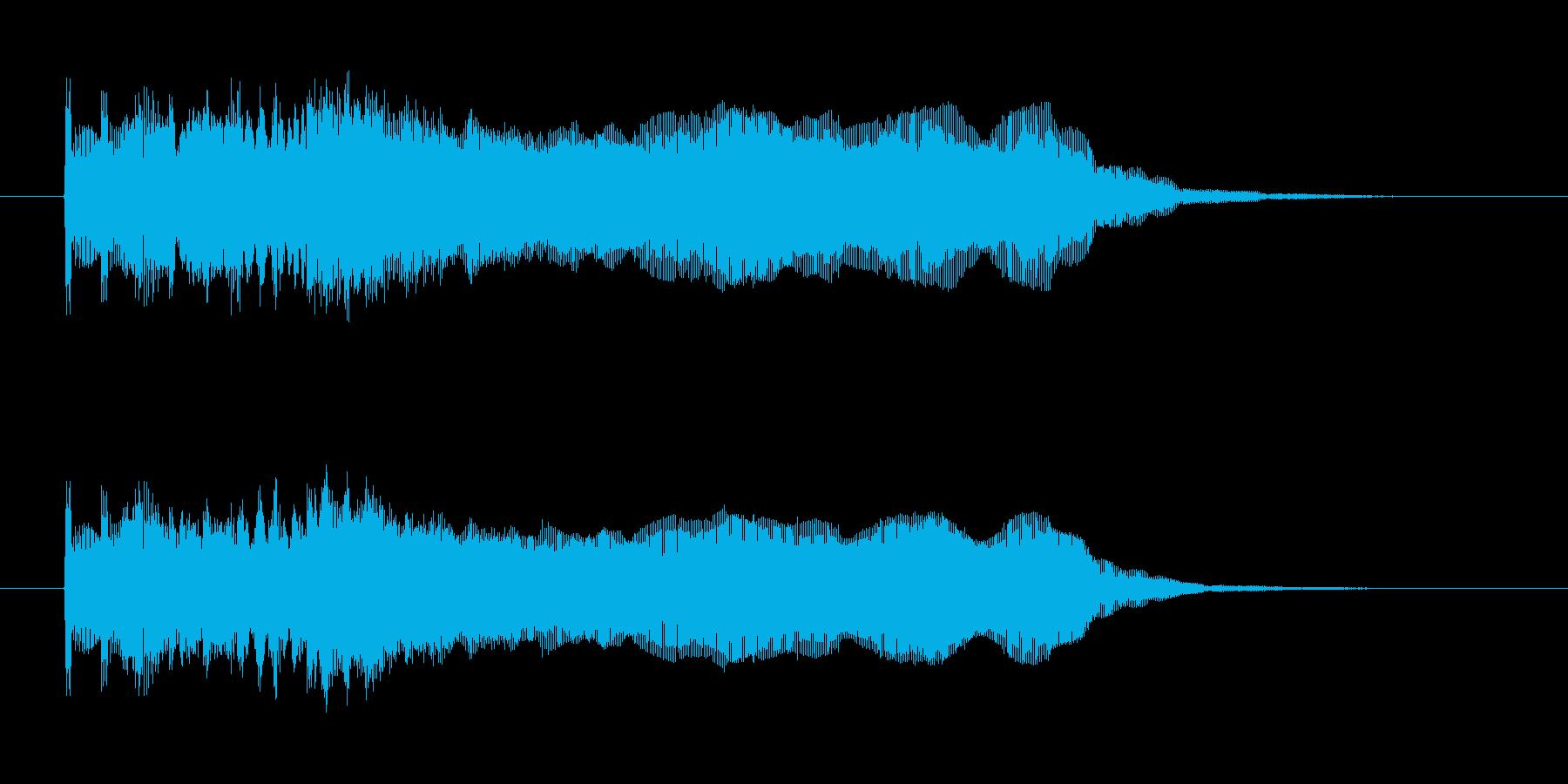 ヘヴィーメタリックなギターフレーズの再生済みの波形