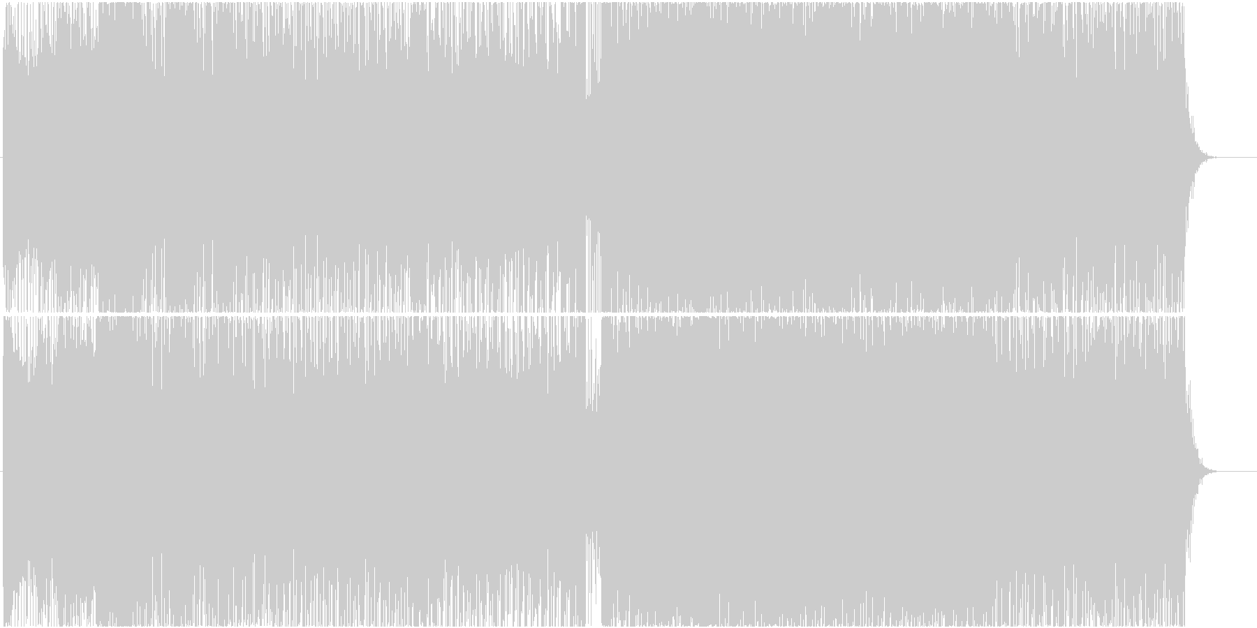 キラキラしたダンスミュージックの未再生の波形