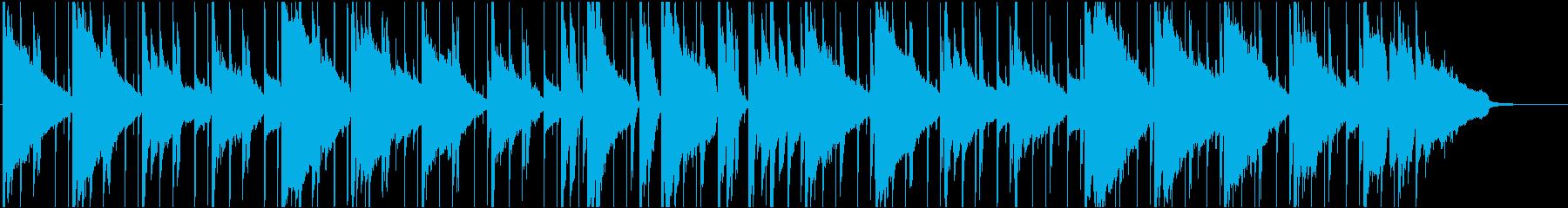落ち着いたシンプルなギター曲の再生済みの波形