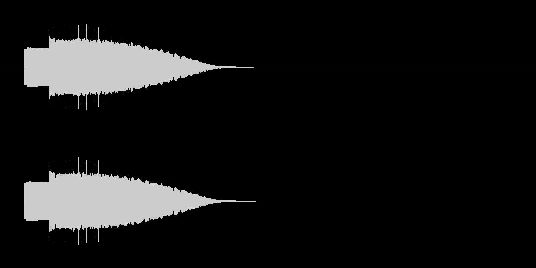 ファミコン風の操作系SEの未再生の波形