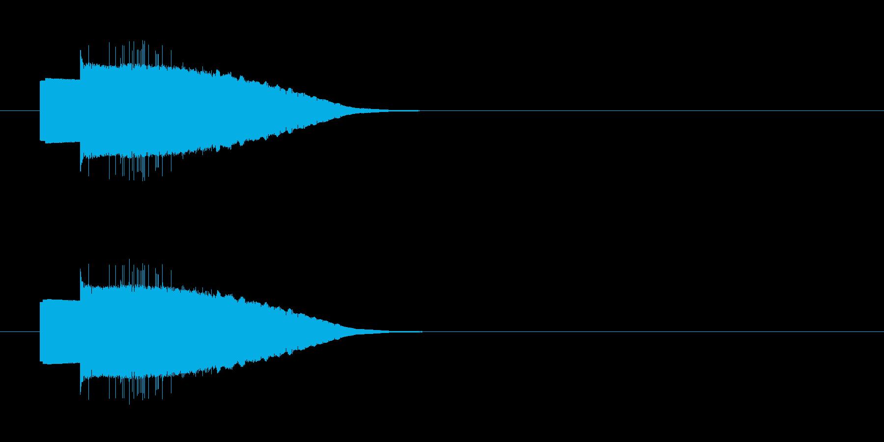 ファミコン風の操作系SEの再生済みの波形