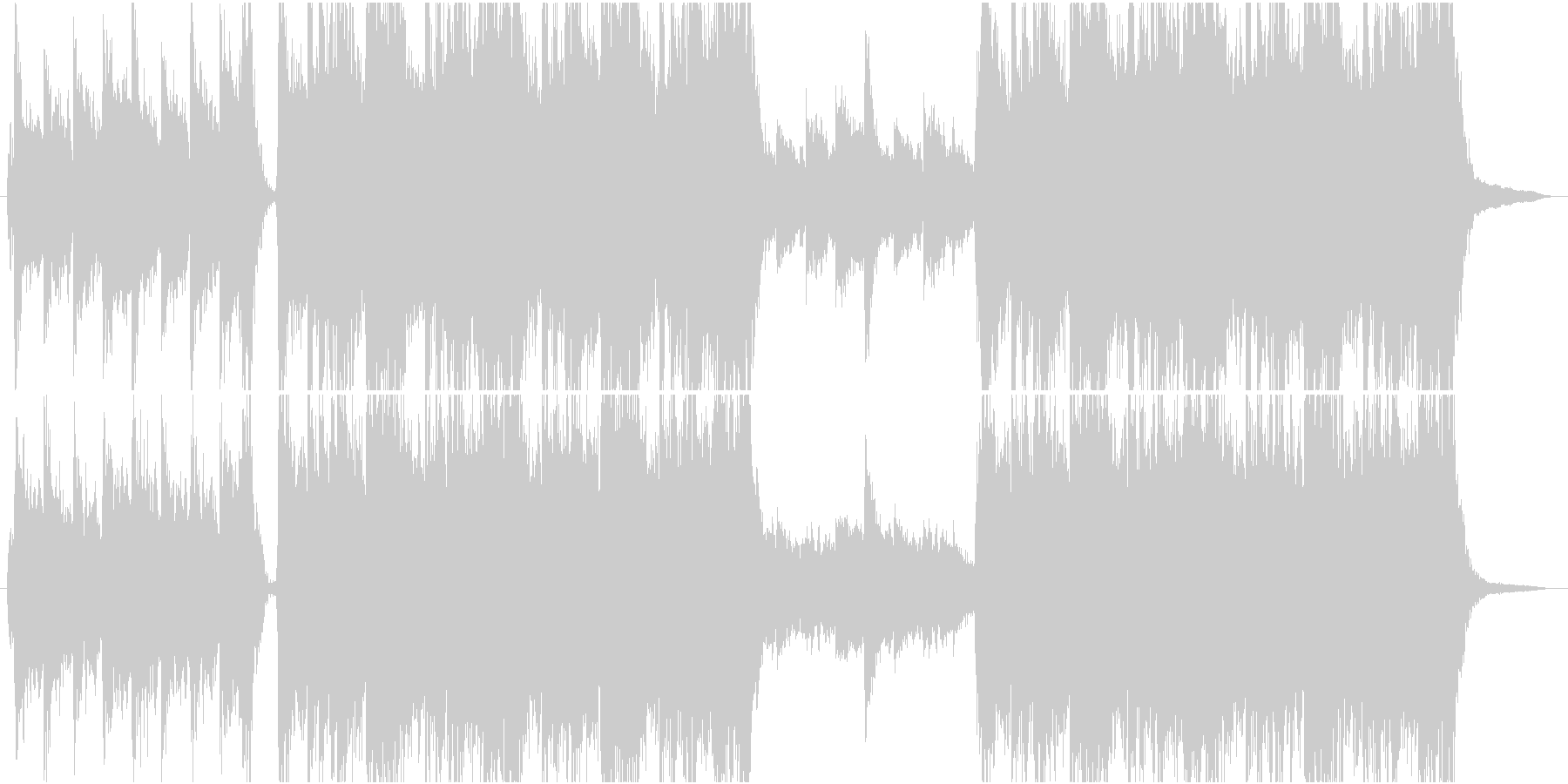 トレーラー風オーケストラの未再生の波形