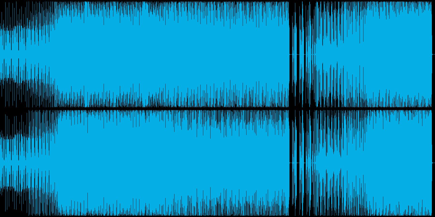 3xoscというシンセを用いたテクノの再生済みの波形
