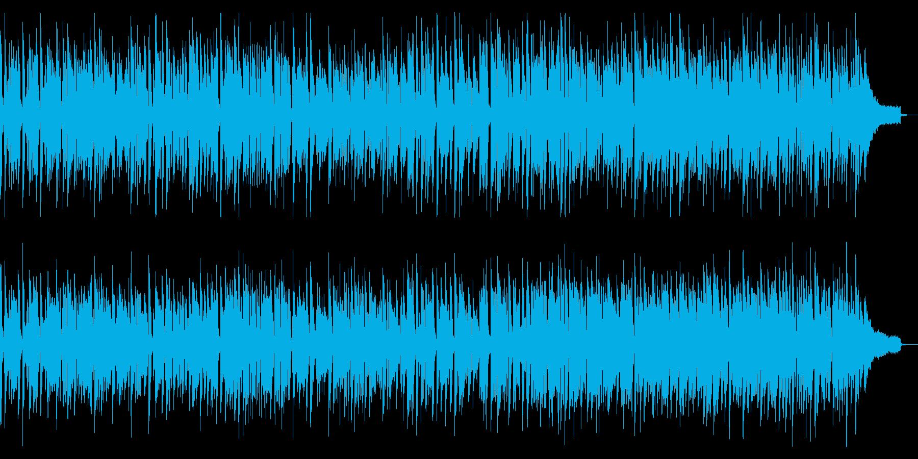アップテンポのジャズ&ブルースピアノソロの再生済みの波形