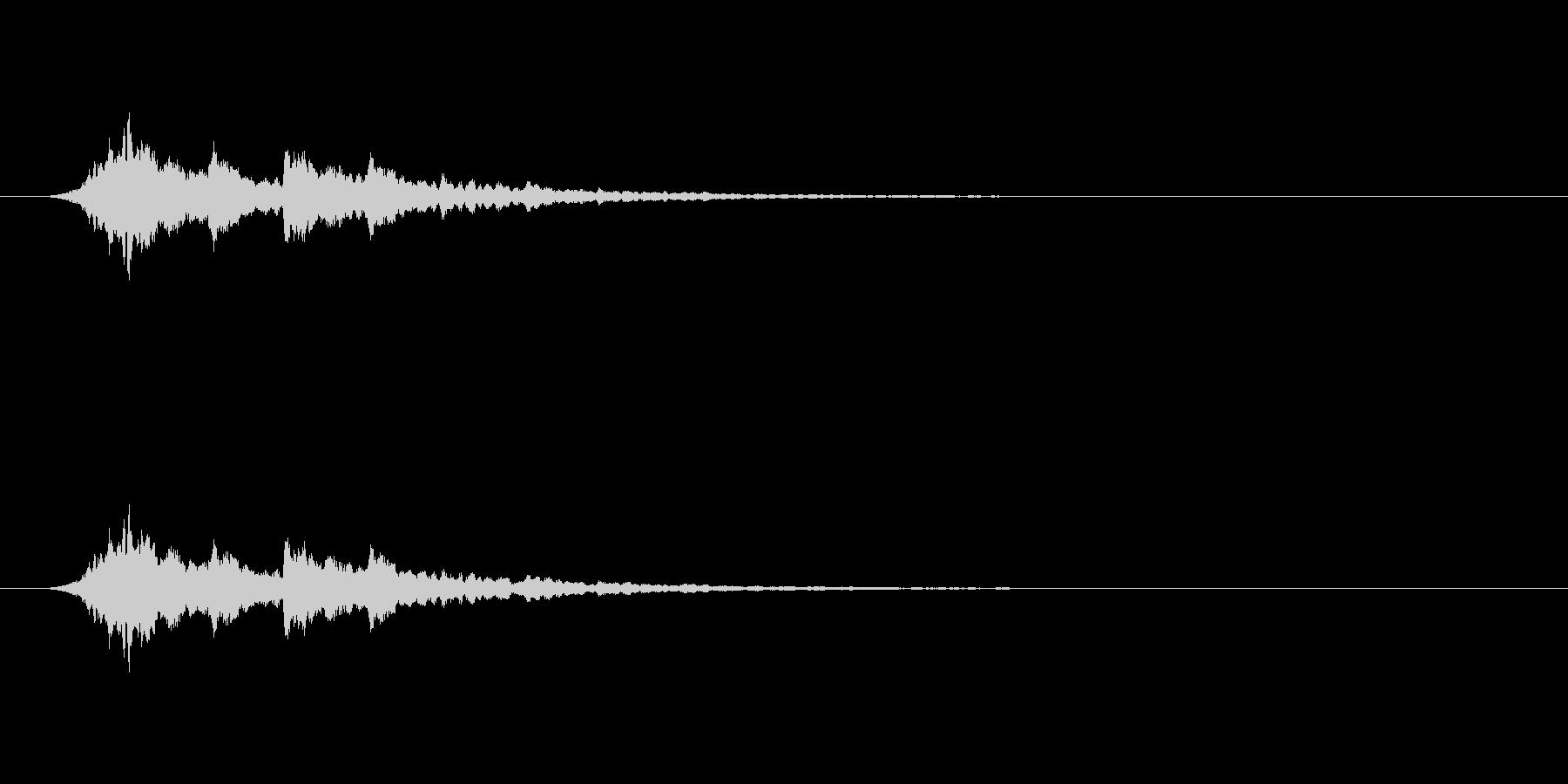 【アクセント12-6】の未再生の波形