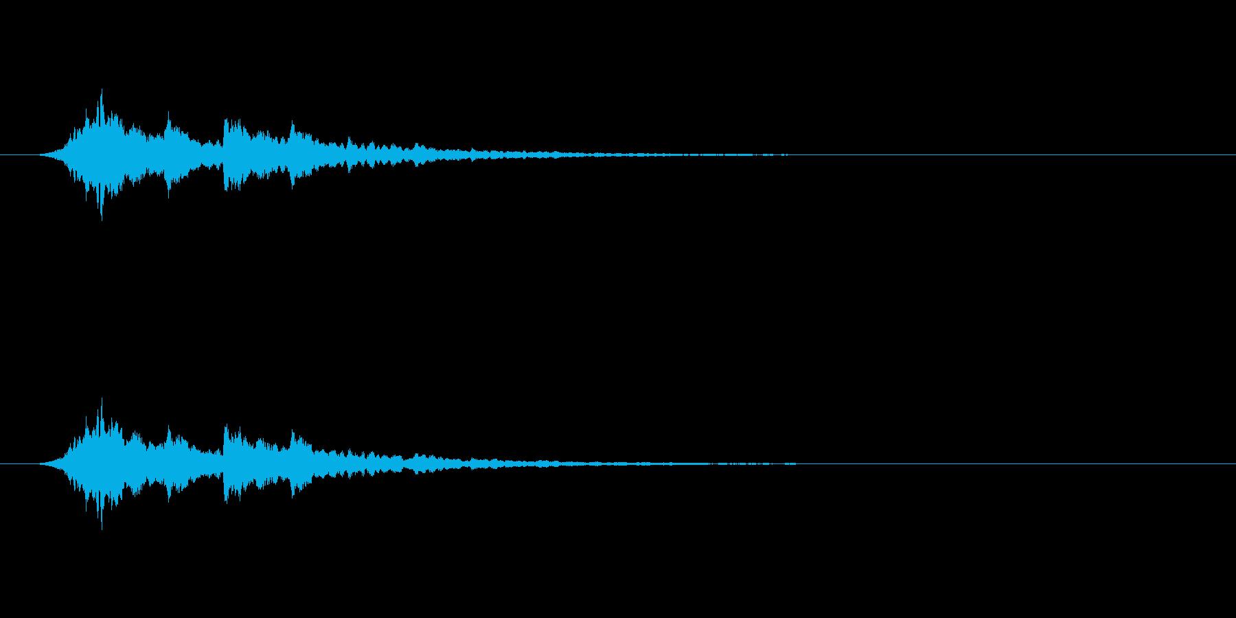 【アクセント12-6】の再生済みの波形