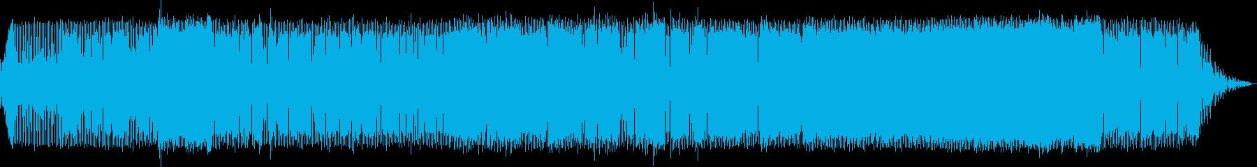 疾走感のある懐かしのエレクトロロックの再生済みの波形