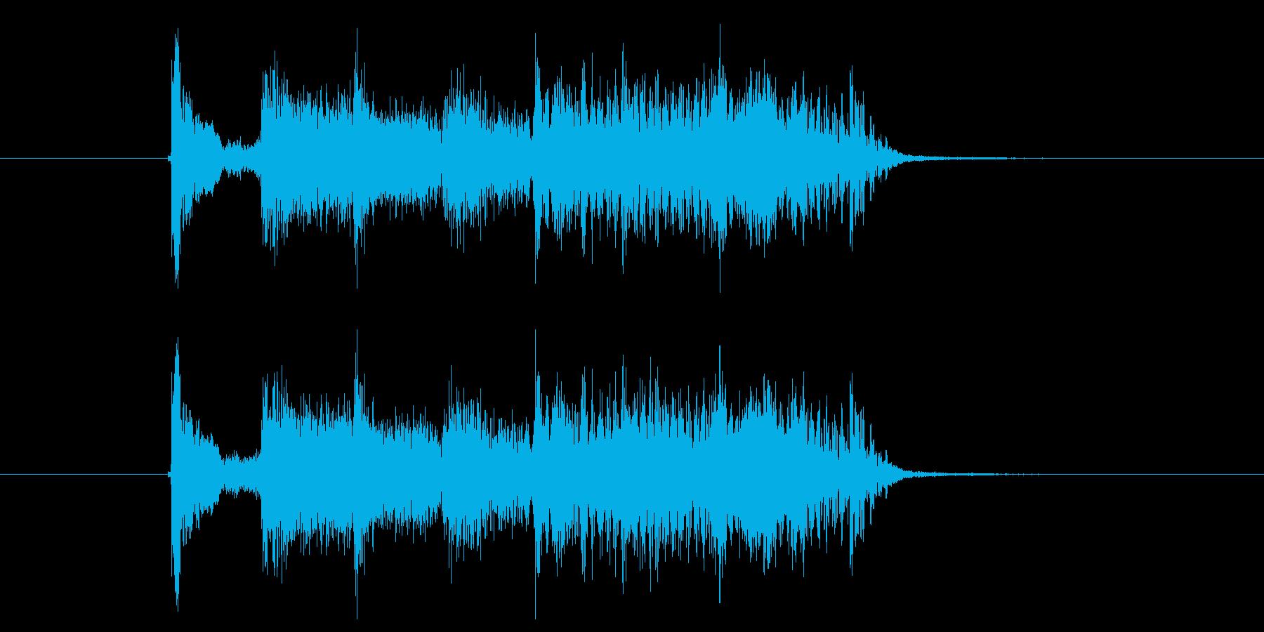 ノリノリで楽しいイメージの効果音の再生済みの波形