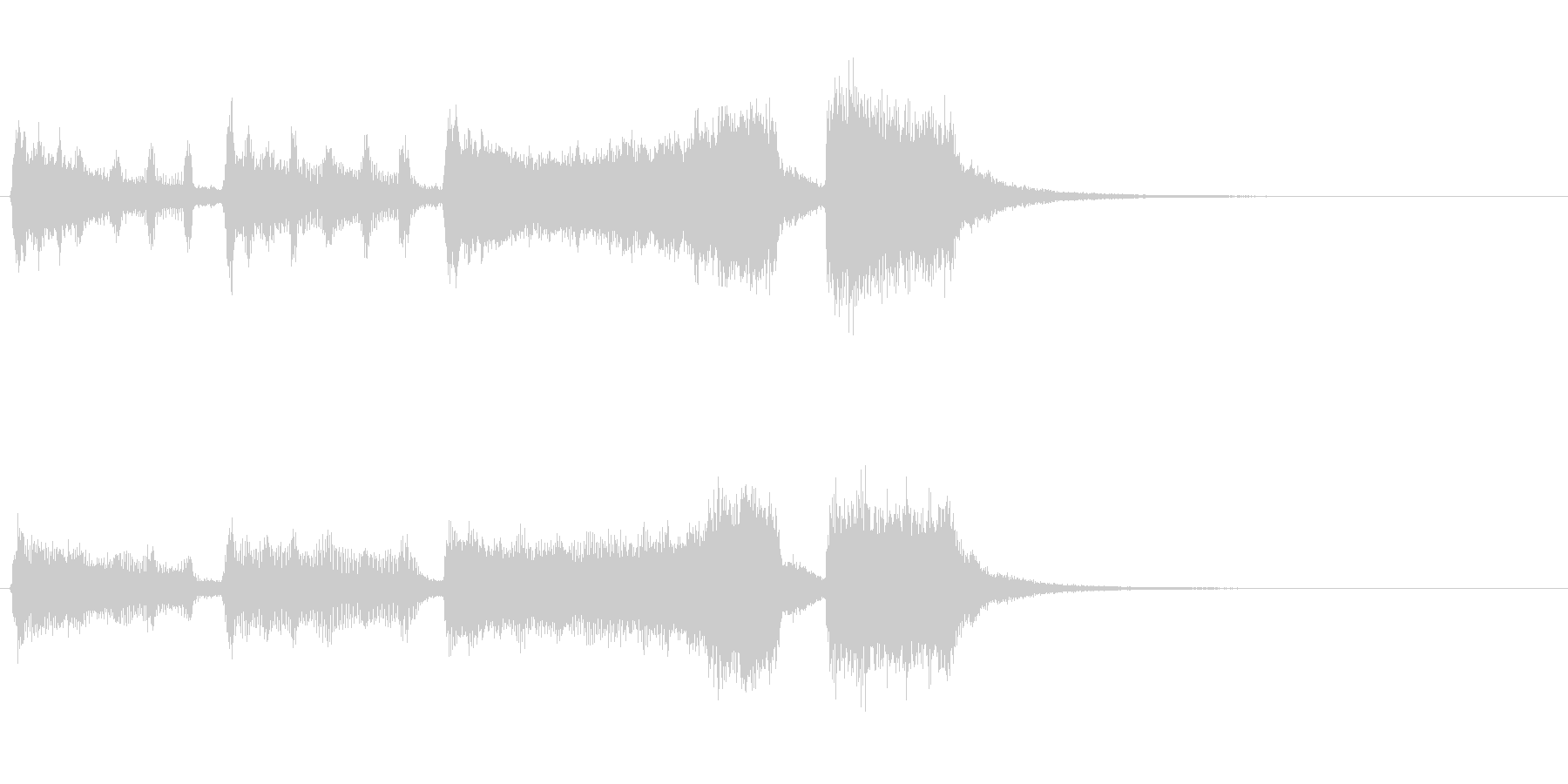 金管楽器のファンファーレ~賞発表などにの未再生の波形