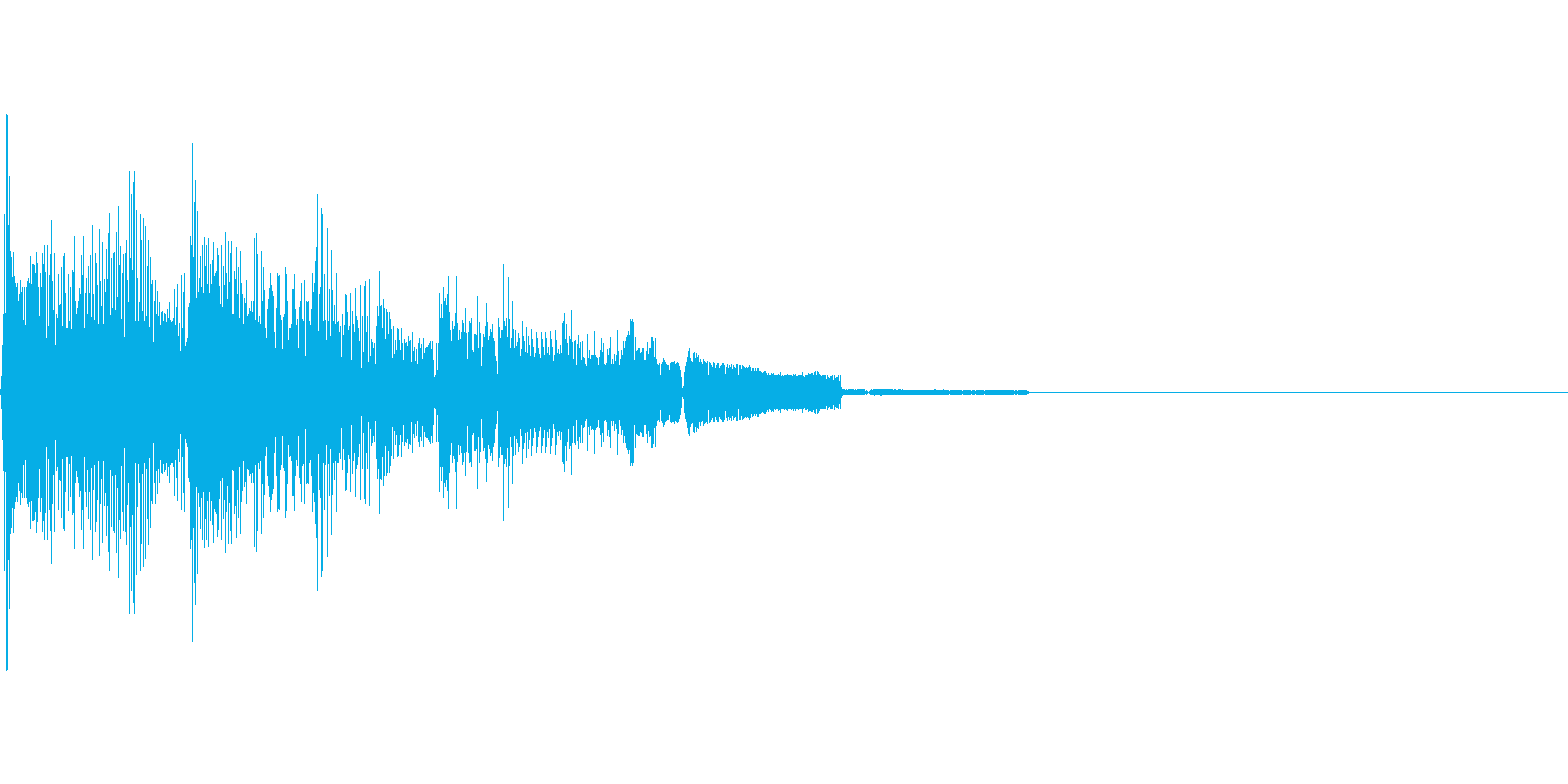 決定音の再生済みの波形