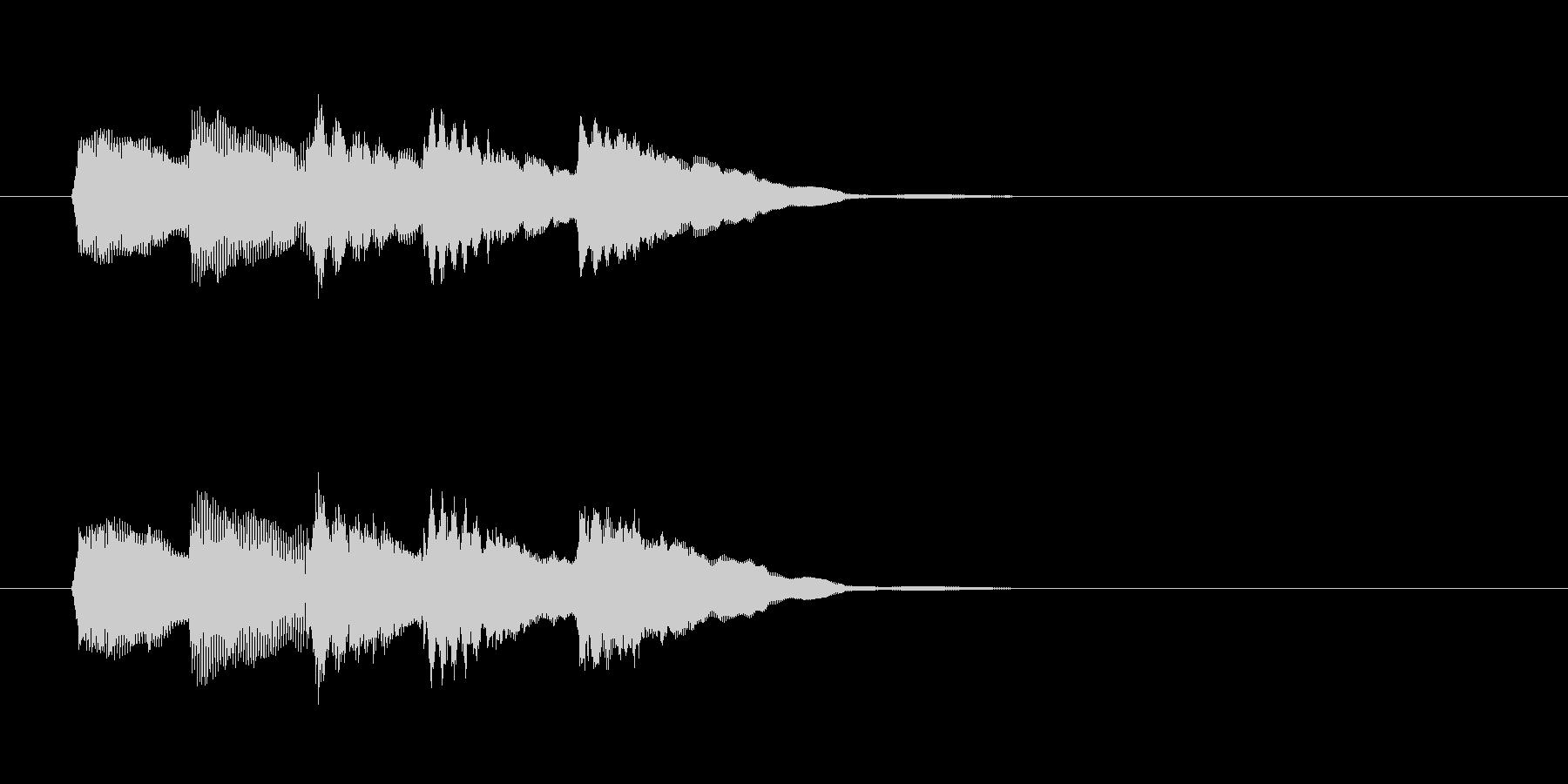 システム・ボタン音6の未再生の波形