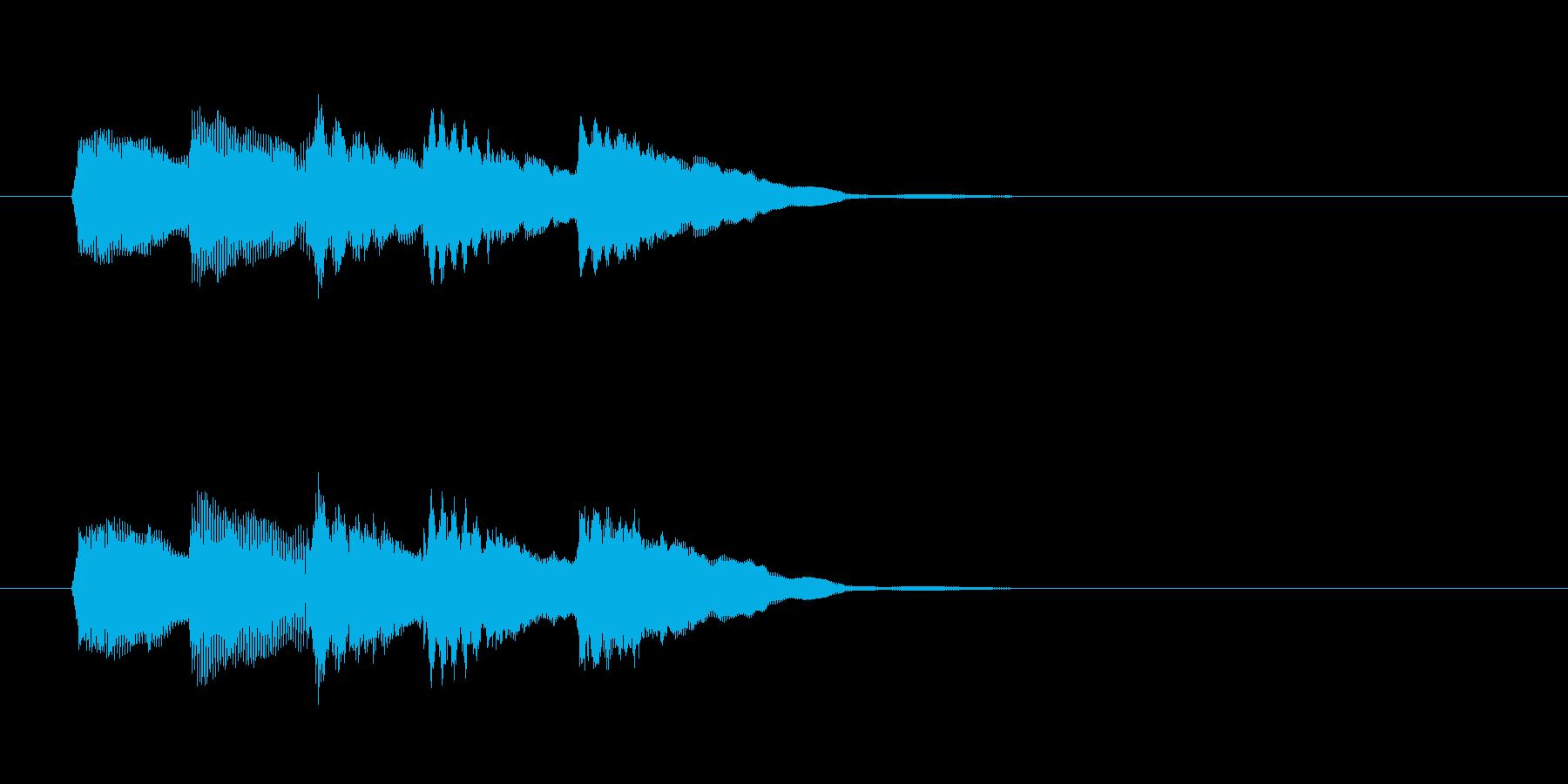 システム・ボタン音6の再生済みの波形
