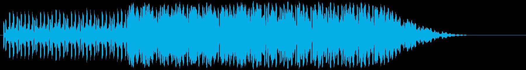 エレキギター+テクノ系001澄んだエレ…の再生済みの波形