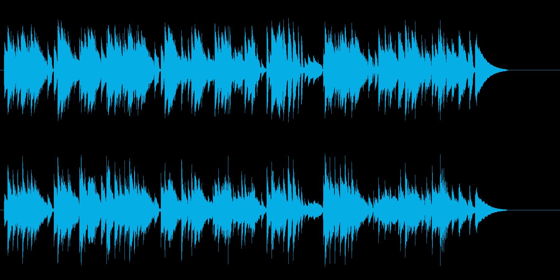 ゆっくりとしたアコースティックの再生済みの波形