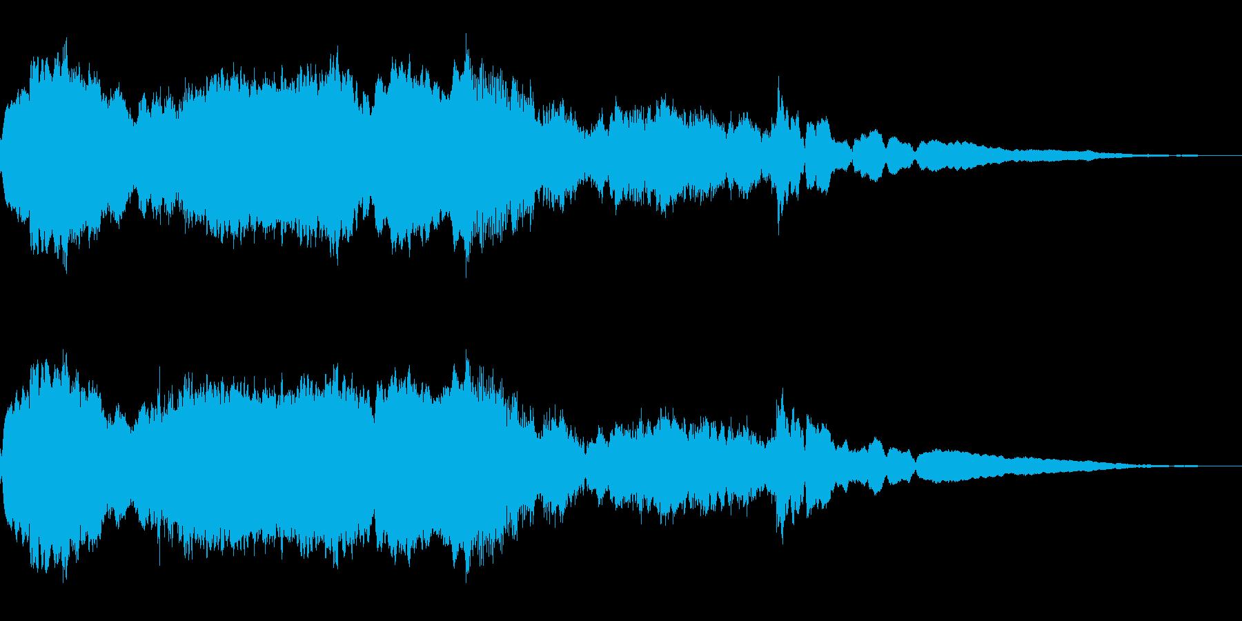 サスペンス、怪しい雰囲気の再生済みの波形