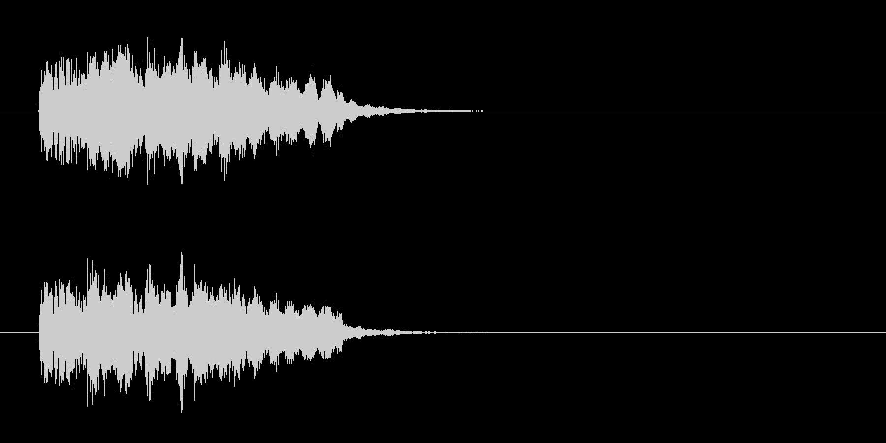 ヒューマン・アコースティック風ジングルの未再生の波形