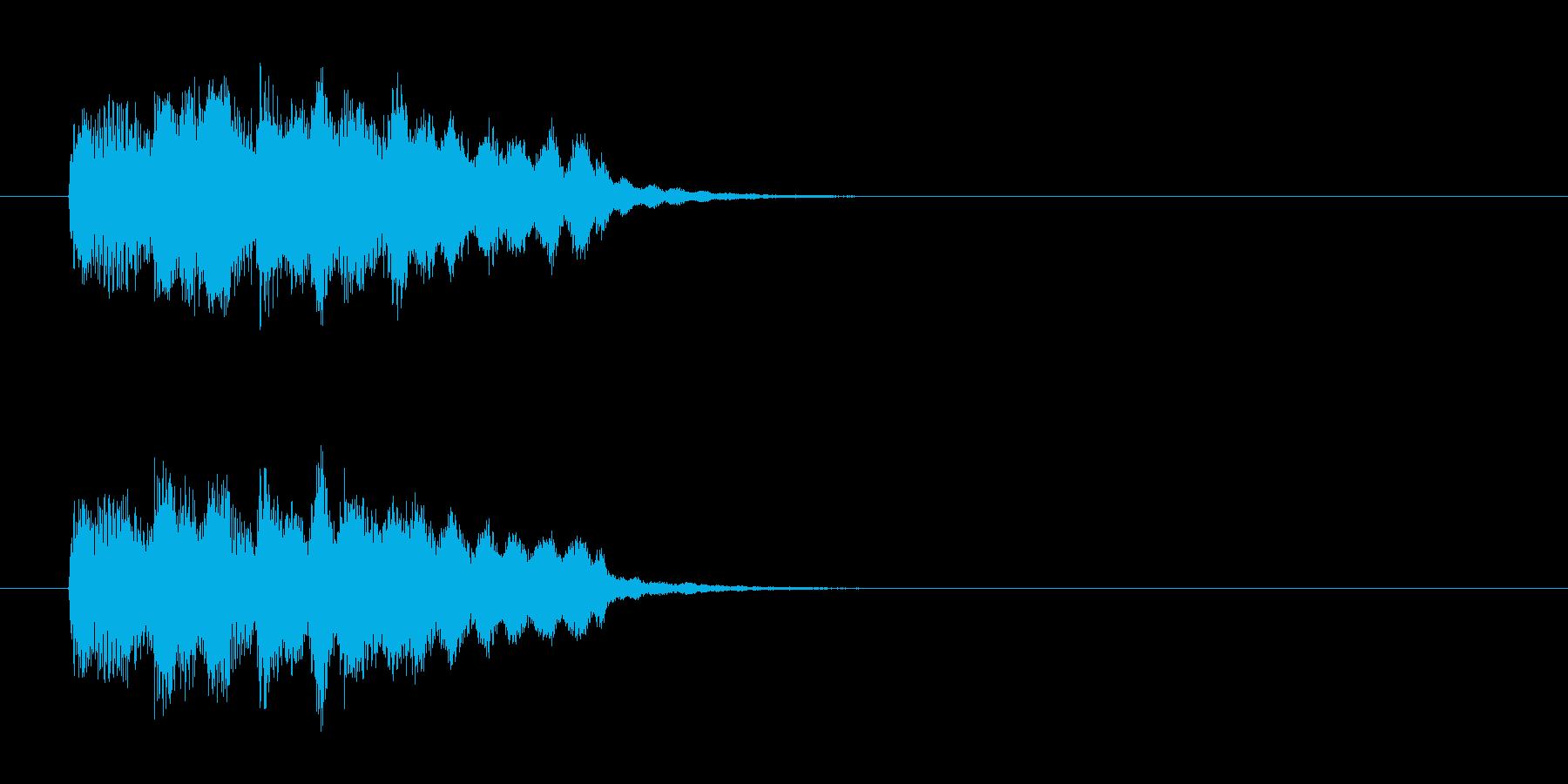 ヒューマン・アコースティック風ジングルの再生済みの波形