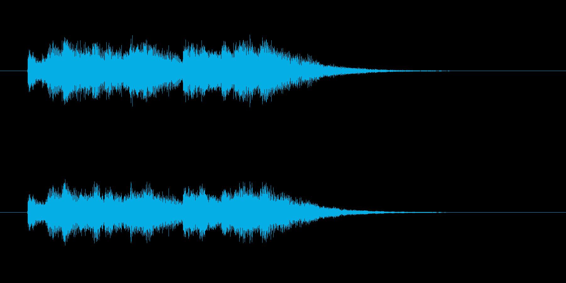 涼しげなシンセサウンド(セレモニー)の再生済みの波形