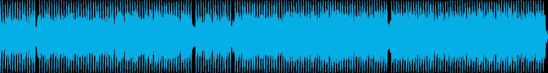 戦闘シーンのBGMの再生済みの波形
