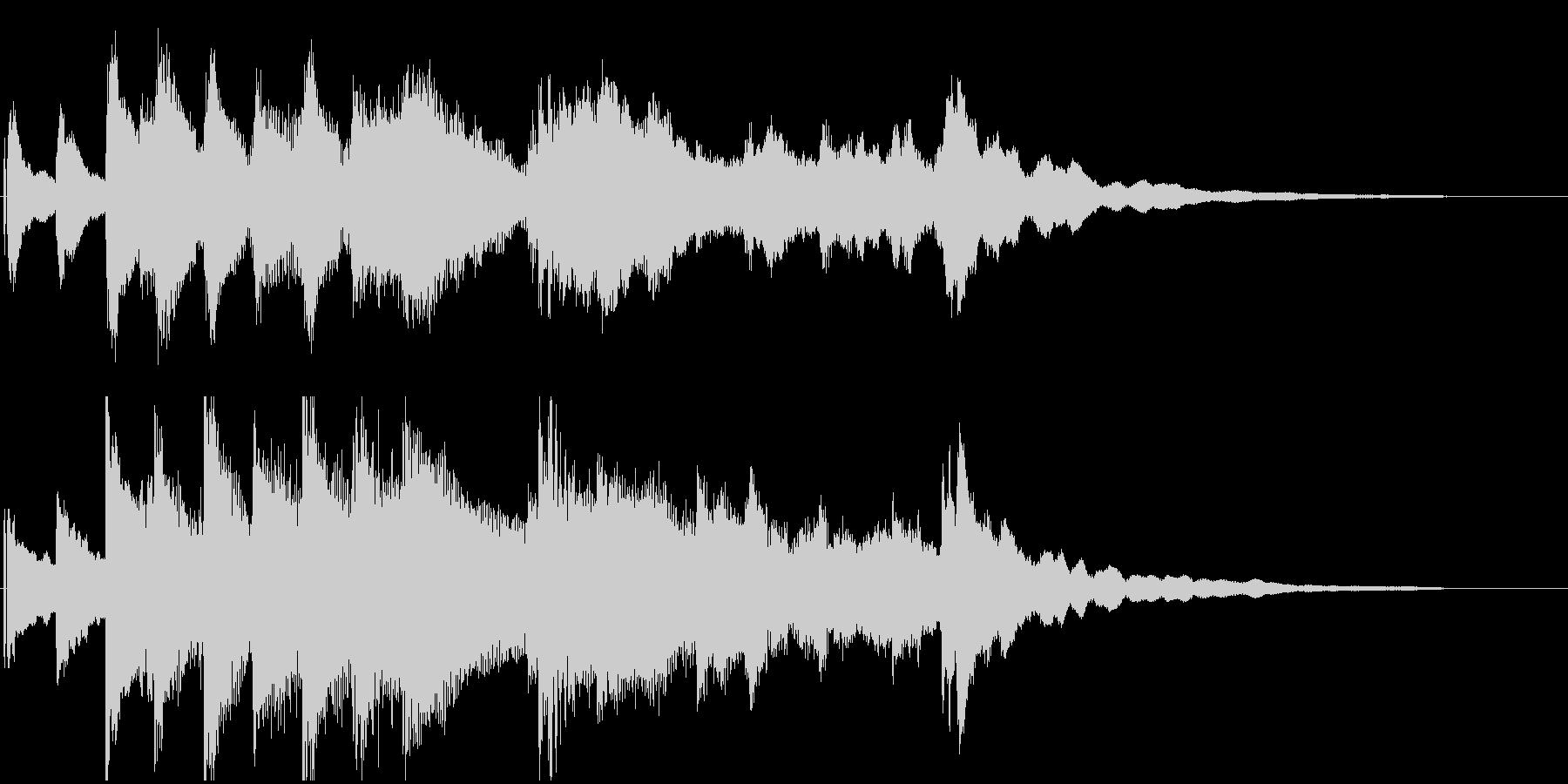ピアノのゆったりしたジングル。の未再生の波形